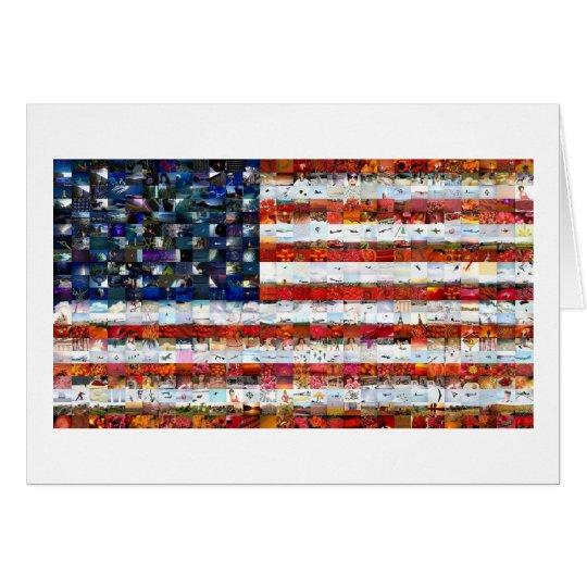 Montagem 600 da bandeira dos Estados Unidos Cartão
