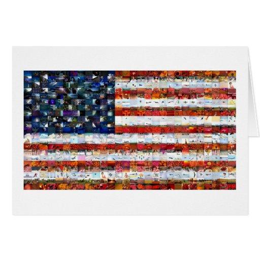Montagem 600 da bandeira dos Estados Unidos Cartão Comemorativo