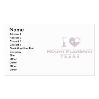 Montagem agradável, Texas Cartões De Visitas