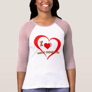 """Montagem Clemens Michigan """"coração dobro """" T-shirt"""