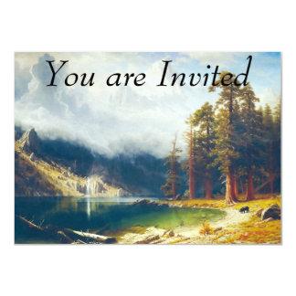 Montagem Corcoran por Albert Bierstadt 1876-77 Convite 11.30 X 15.87cm