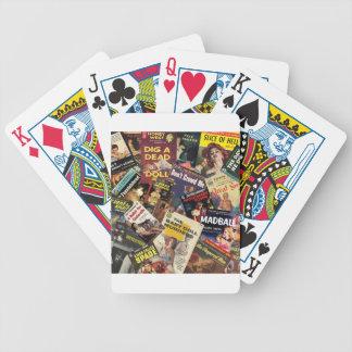Montagem da capa do livro baralho para pôquer