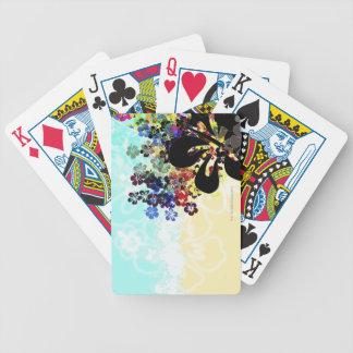 Montagem da flor baralhos para pôquer