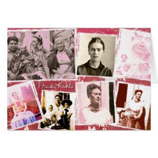Montagem da foto de Frida Kahlo Cartão Comemorativo