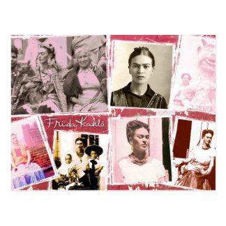 Montagem da foto de Frida Kahlo Cartao Postal