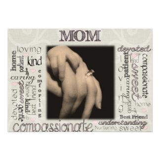 Montagem da mamã convites personalizado