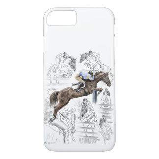 Montagem das cercas dos cavalos da ligação em capa iPhone 8/ 7