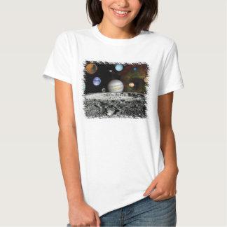 Montagem das imagens do explorador do sistema camiseta