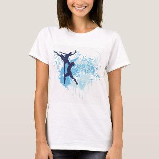 Montagem decorativo do balé camiseta