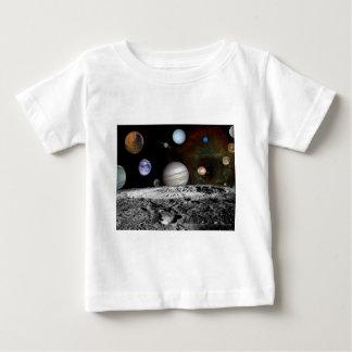 montagem do espaço camiseta