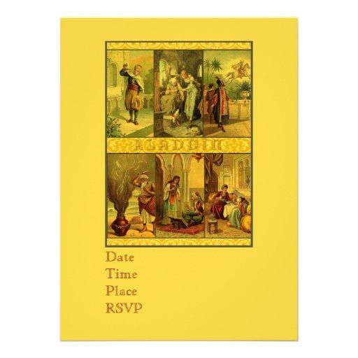 Montagem do Natal de Aladdin do vintage Convite