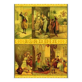 Montagem do Natal de Aladdin do vintage Convite 13.97 X 19.05cm