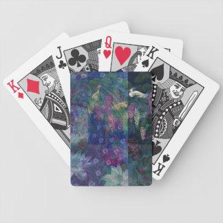 Montagem do pavão baralhos de cartas