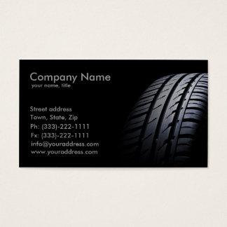 Montagem do pneu e cartão de visita de equilíbrio