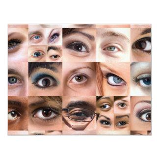 Montagem dos olhos humanos convite 10.79 x 13.97cm