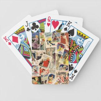 Montagem francês baralho de cartas
