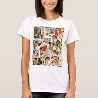 Montagem francês camiseta