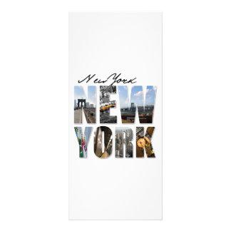 Montagem gráfico do turismo da Nova Iorque 10.16 X 22.86cm Panfleto