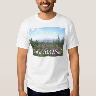 Montagem Katahdin e Wildflowers Camiseta