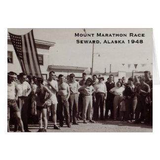 Montagem Marathon-1948 Cartão Comemorativo