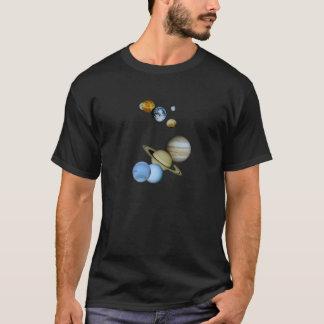 Montagem planetário camiseta