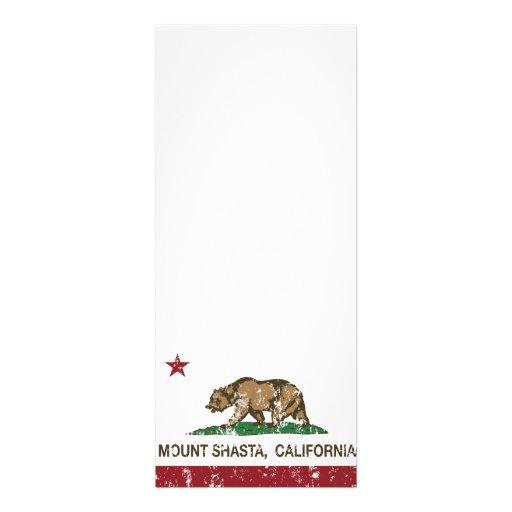 Montagem Shasta da bandeira da república de Califó Convites Personalizados