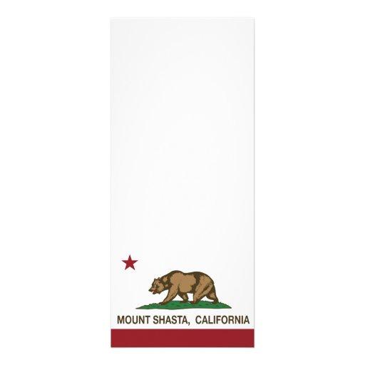 Montagem Shasta da bandeira da república de Califó Convites Personalizado