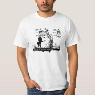 Montagem - silhueta - dança no vento camiseta
