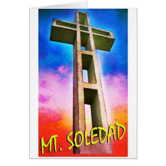 Montagem Soledad #1 transversal Cartão Comemorativo