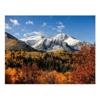 Montagem Timpanogos em montanhas de Utá do outono Cartão Postal