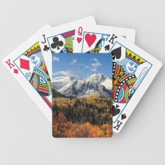 Montagem Timpanogos em montanhas de Utá do outono Jogo De Carta