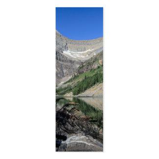 Montagem Whyte Alberta Canadá de Agnes do lago Cartão De Visita Skinny