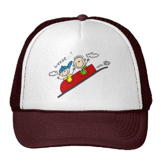 Montando o chapéu do roller coaster boné