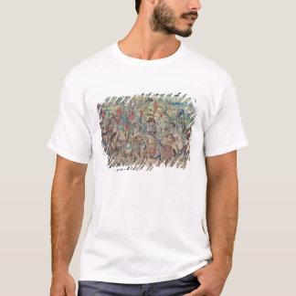 Montando os cavaleiros, da tapeçaria 'de David Camiseta
