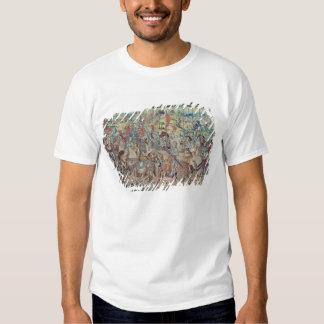 Montando os cavaleiros, da tapeçaria 'de David Tshirts