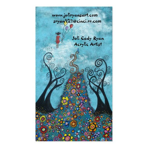 Montanha de cartões de visitas da esperança