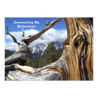 Montanha do anúncio da aposentadoria através da convites personalizado