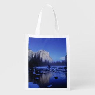 Montanha do EL Capitan, parque nacional de Yosemit Sacola Reusável