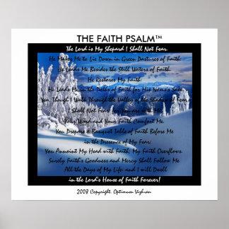 Montanha do gelo do salmo da fé de WarriorsCreed Impressão