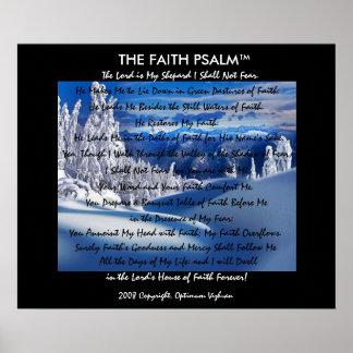 Montanha do gelo do salmo da fé de WarriorsCreed Pôster