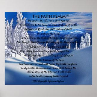 Montanha do gelo do salmo da fé de WarriorsCreed Pôsteres