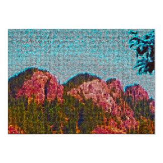 Montanha do mosaico convites personalizados