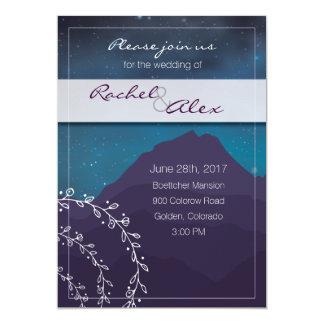 Montanha & estrelas que Wedding o convite