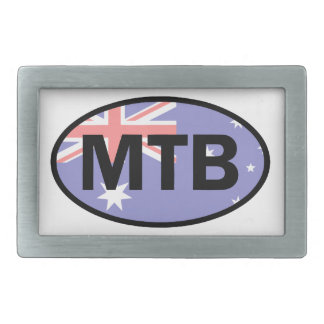 Montanha que Biking a bandeira de Austrália