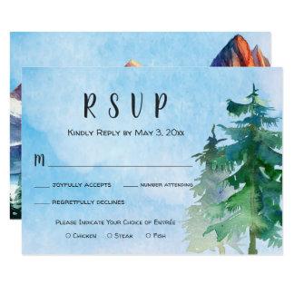 Montanha que Wedding o cartão de RSVP com escolha