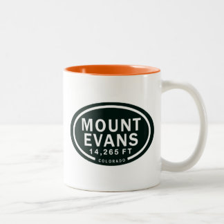 Montanha rochosa de Evans 14.265 FT Colorado da Caneca De Café Em Dois Tons