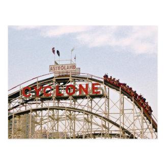 Montanha russa do ciclone - Coney Island, cartão