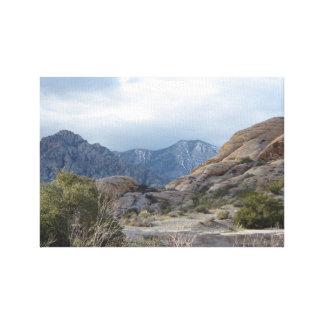 Montanha Vista no impressão das canvas de Nevada