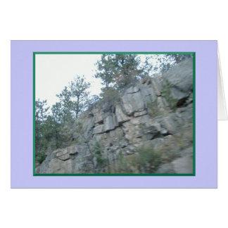 Montanhas afastado mas em meus cartões de nota do
