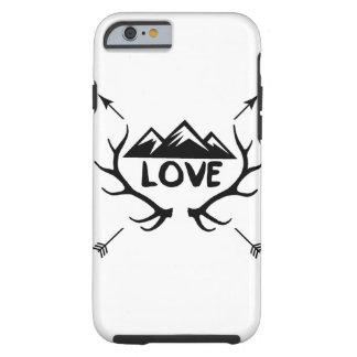 Montanhas, Antlers e setas do amor Capa Tough Para iPhone 6